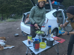 OUTDOOR COOKING CAR CAMPING