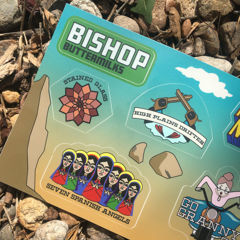 Bishop: The Buttermilks Sticker Sheet