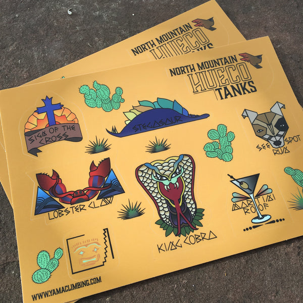 Hueco Tanks: North Mountain Sticker Sheet