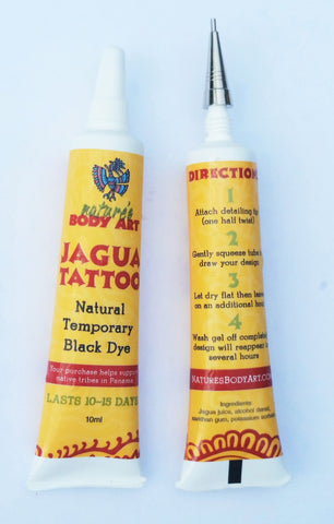 Jagua Tattoo Gel Tubes - Nature's Body Art