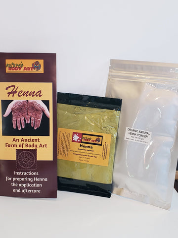 Fresh 100% Natural Organic Rajasthani Henna Powder - Nature's Body Art
