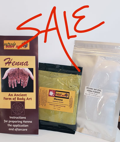 CLEARANCE BULK HENNA SALE !100% Organic Rajasthani - Nature's Body Art
