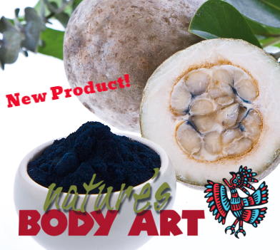 NEW!!! Raw Powdered Jagua (dehydrated fruit) (nothing added) - Nature's Body Art