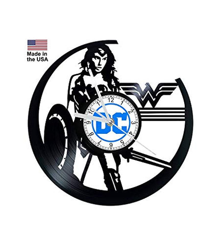 Vinyl Record Clock Wonder Woman Diana Prince Justice League DC Comics