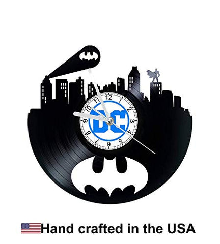 Vinyl Clock, Bat Signal, Wall clock, vinyl record clock