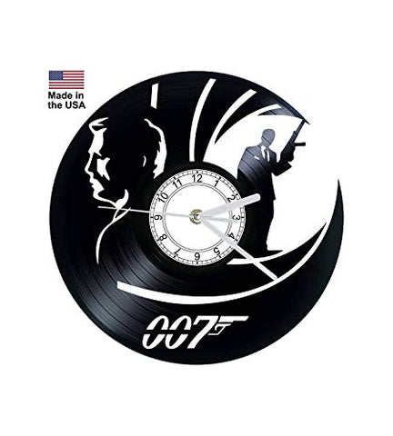 Vinyl Clock, 007, Daniel Craig, James Bond, Wall clock, vinyl record clock