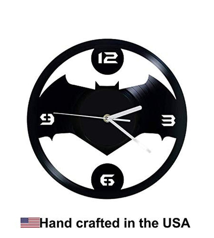 Vinyl Clock, Bat Symbol, Batman, Wall clock, vinyl record clock