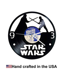 Vinyl Clock, Star Wars, Luke, Darth Vader, Empire Strikes Back, Wall clock, vinyl record clock