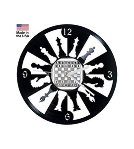 Vinyl Clock, Chess, Wall clock, vinyl record clock