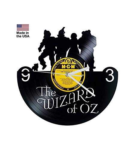 Vinyl Clock, Wizard of Oz, Wall clock, vinyl record clock