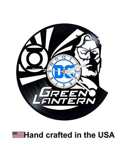 Vinyl Clock, Green Lantern, DC Comic, DC, Justice League, Wall clock, vinyl record clock