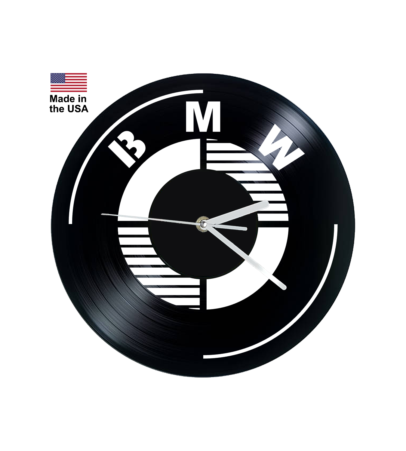 Vinyl Clock, BMW, Bavarian Motor Works, Wall clock, vinyl record clock