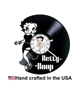 Vinyl Clock, Betty Boop, Wall Clock, Vinyl Record Clock
