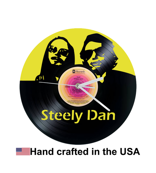 Vinyl Clock, Steely Dan, Wall Clock, Vinyl Record Clock