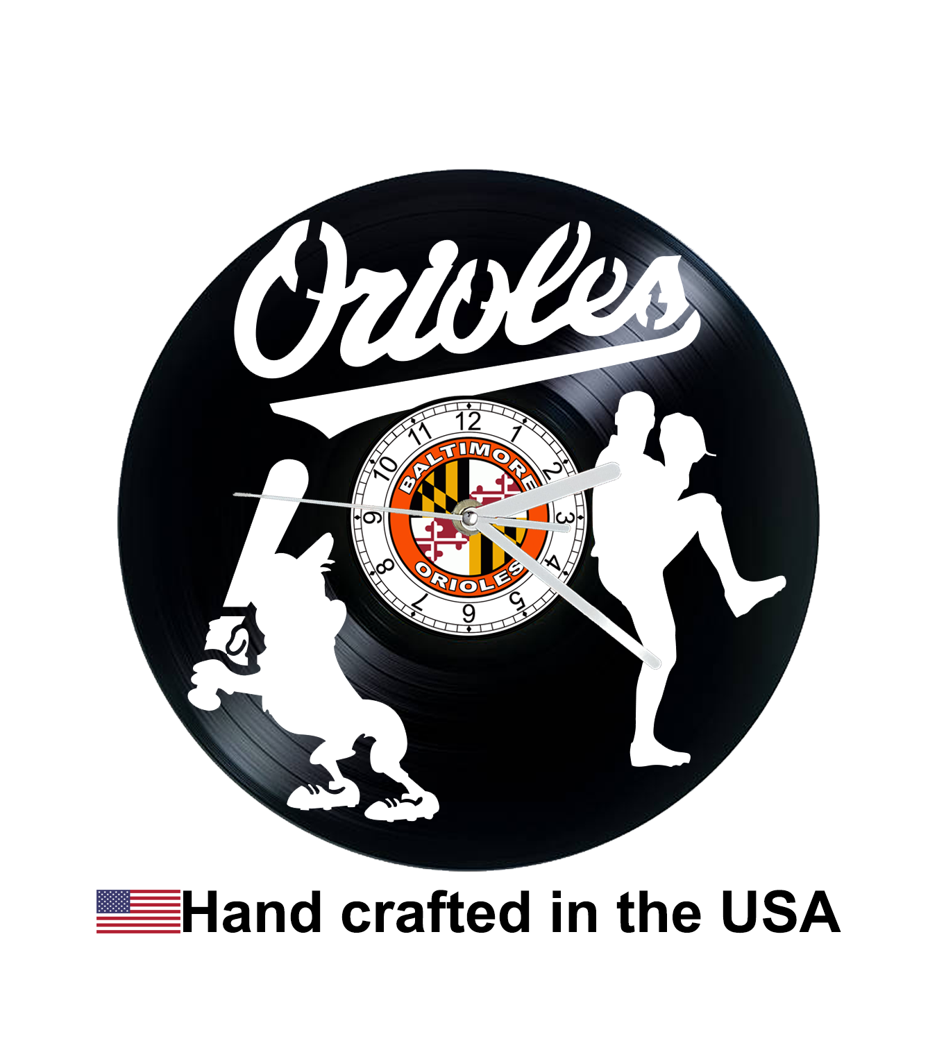 Vinyl record clock, Baltimore Orioles, Wall clock, Christmas gift, vinyl record