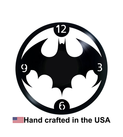 Vinyl Clock, Superheroes, Bat Symbol, Batman, Michael Keaton, Wall Clock, Vinyl Record Clock
