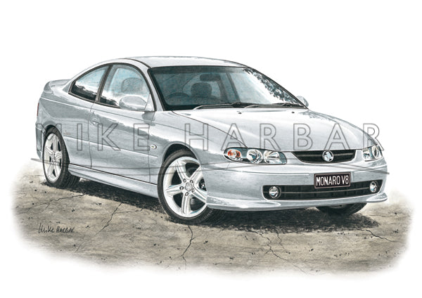 Holden Monaro CV8 colour print