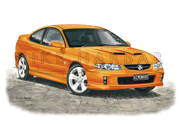 Holden Monaro 2005 VZ colour print