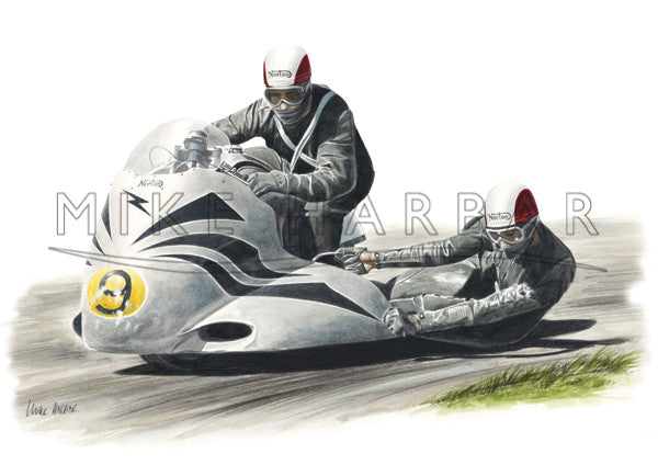 Norton 1957 Sidecars with Bernie Mack & Ray Kelly