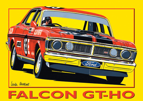 Ford Yellow Poster Falcon XW & XY GT-HO