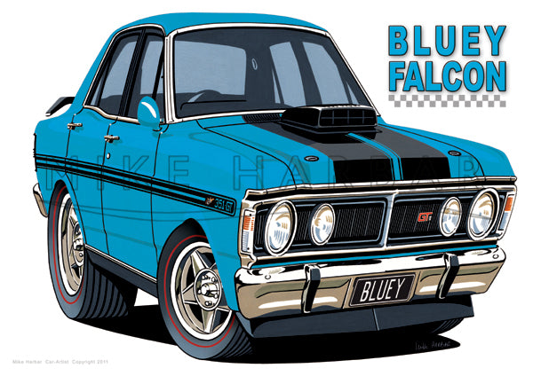 Copy of Ford Car Toon Bluey Falcon