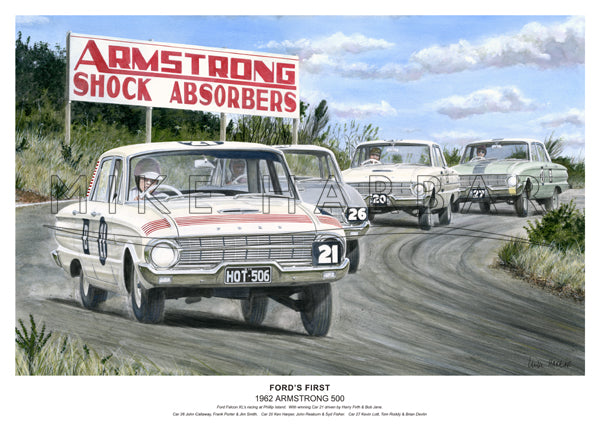 Armstrong 500 1962 Ford Falcon XL - Ford's First