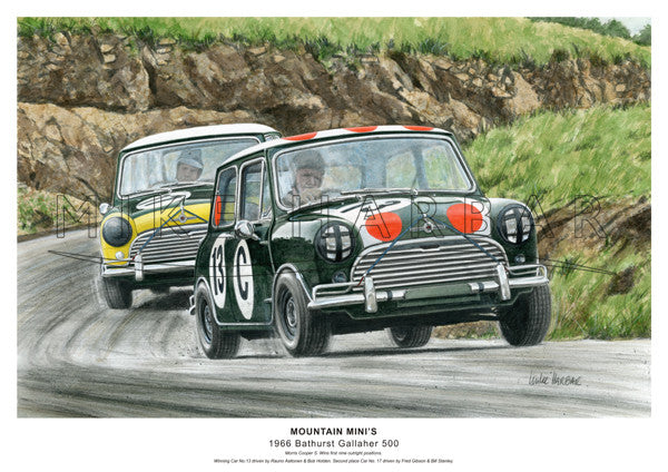 Bathurst 1966 Mini Cooper S - Mountain Mini's