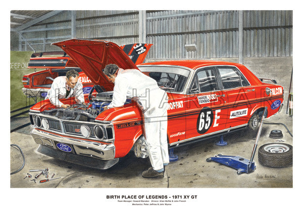 Bathurst 1971 Ford Falcon XY GT - Workshop