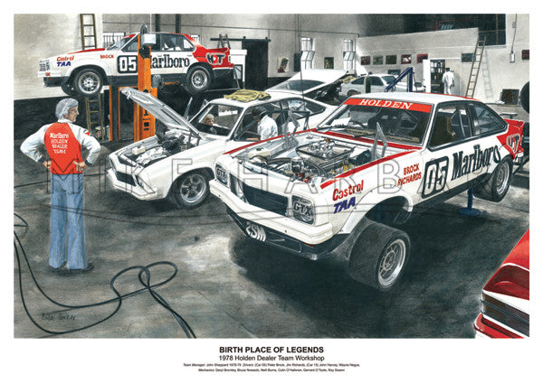 Bathurst 1978 Holden A9X - Workshop