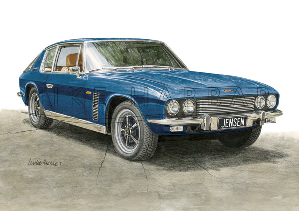 Jensen Interceptor Colour Print - Blue