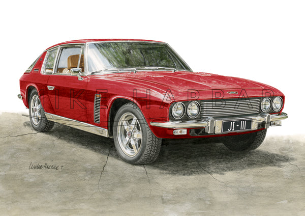 Jensen Interceptor Personalised Print - Your COLOUR & REGO
