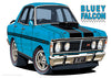 Car Toons Freddy Falcon and Bluey