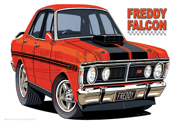 Ford Car Toon Freddy Falcon