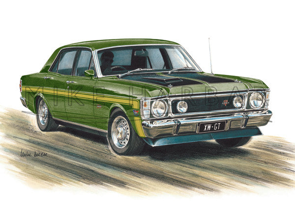 ford falcon xw gt ute and gs classic lines artist rh classiclinesartist com Ford Falcon Australia Ford Falcon Australia