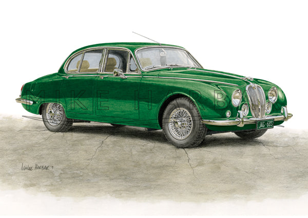 Jaguar S Type '63 to '68 - Personalised Print - Your COLOUR & REGO