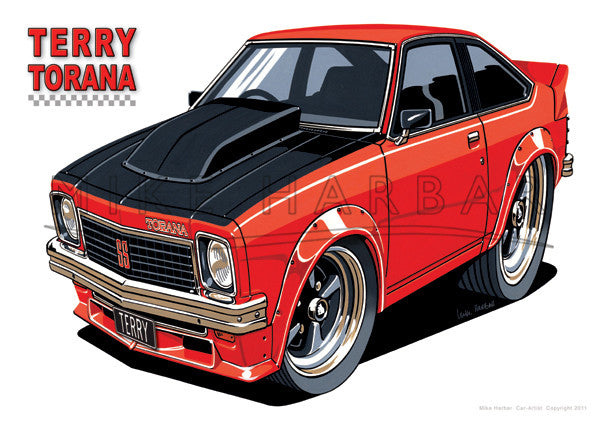 Car Toons Terry Torana and Jasmin