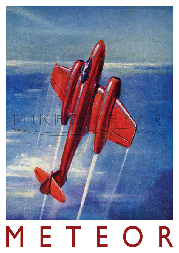 Gloster Meteor Poster