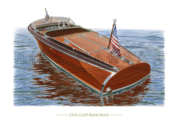 Chris Craft 1940 Barrel Back