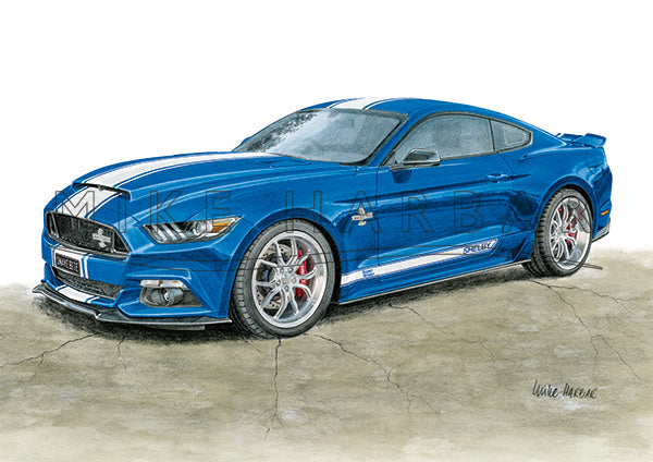 Ford Mustang 2016 Super Snake Colour Print