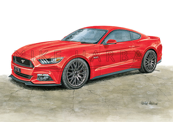 Ford Mustang 2017 GT 5.0 FASTBACK Colour Print