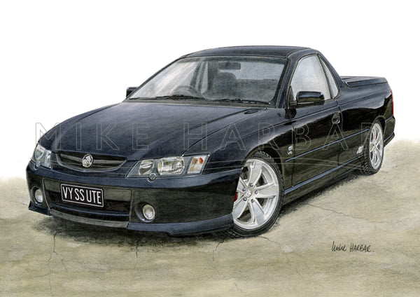 Holden Commodore 2004 VY SS Ute colour print