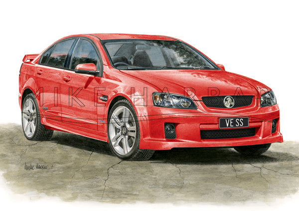 Holden Commodore VE 1 Sedan - Colour Print