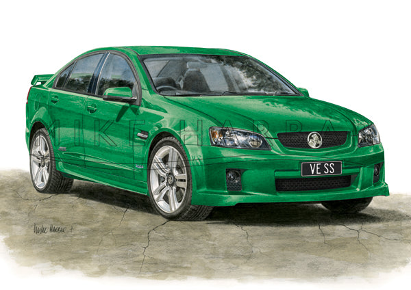 Holden Commodore VE 1 Sedan Personalised Print - Your COLOUR & REGO