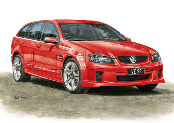 Holden Commodore VE 1 Sportswagon - Colour Print