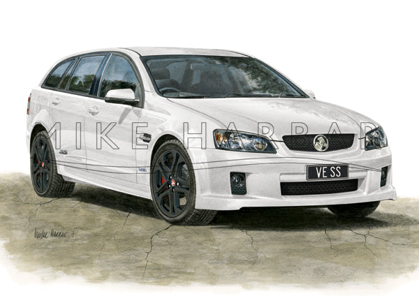 Holden Commodore VE 1 Sportswagon Personalised Print - Your COLOUR & REGO