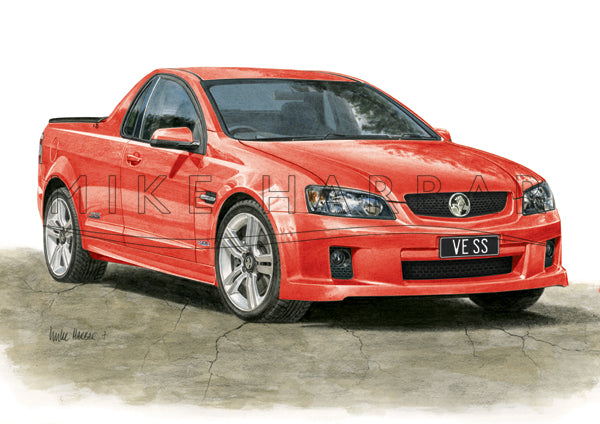 Holden Commodore VE 1 Ute - Colour Print