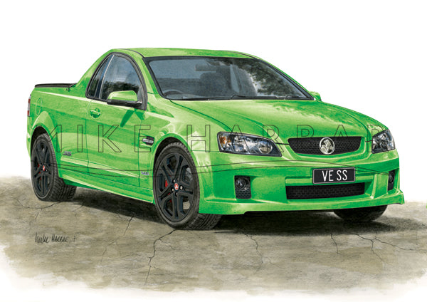 Holden Commodore VE 1 Ute Personalised Print - Your COLOUR & REGO