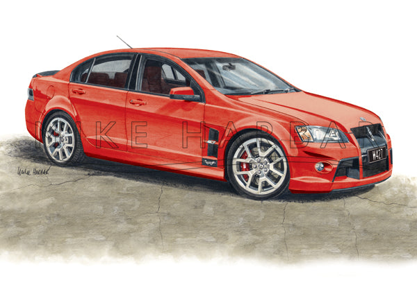 Holden Commodore 2008 HSV W427 Walkinshaw colour print
