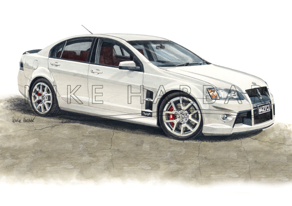 Commodore 2008 HSV W427 Walkinshaw personalised print