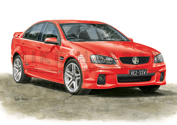 Holden Commodore VE 2 Sedan - Colour Print